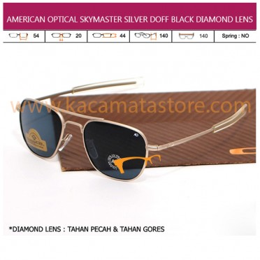 AMERICAN OPTICAL SKYMASTER SILVER DOFF BLACK DIAMOND LENS
