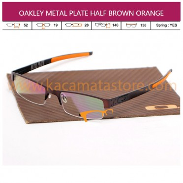 JUAL KACAMATA BACA OAKLEY METAL PLATE HALF BROWN ORANGE