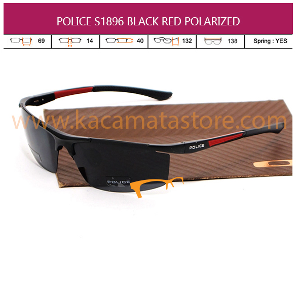POLICE S1896 BLACK RED POLARIZED
