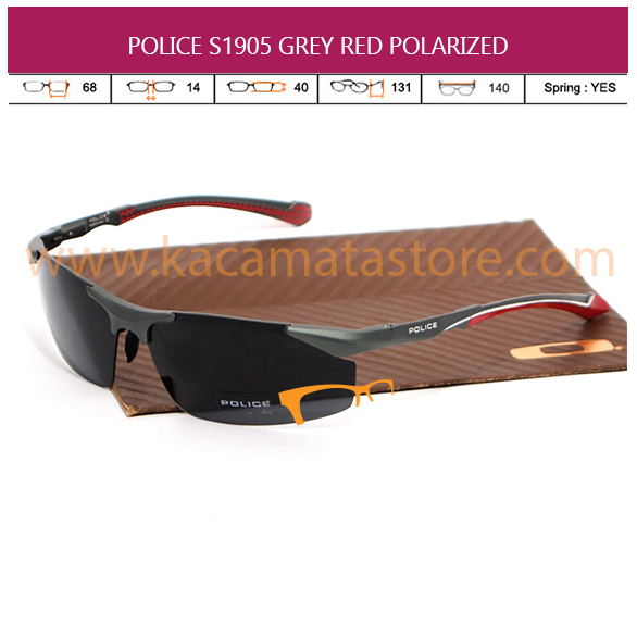 POLICE S1905 GREY RED POLARIZED