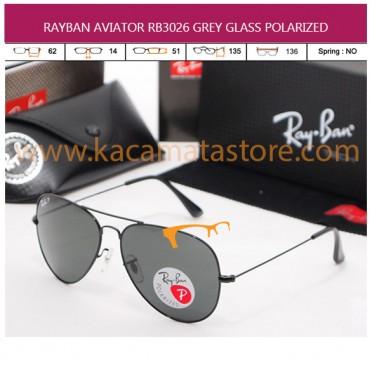 RAYBAN AVIATOR RB3026 GREY GLASS POLARIZED