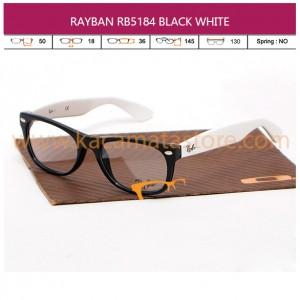 JUAL KACAMATA BACA RAYBAN RB5184 BLACK WHITE