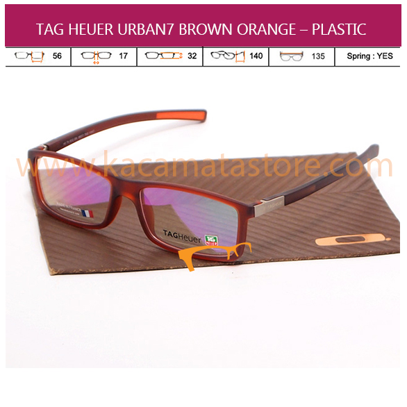 JUAL KACAMATA BACA TAG HEUER URBAN7 BROWN ORANGE – PLASTIC