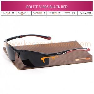 JUAL KACAMATA ONLINE POLICE S1905 BLACK RED POLARIZED