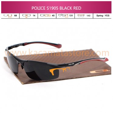 JUAL KACAMATA ONLINE POLICE S1905 BLACK RED POLARIZED