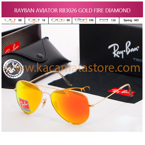 RAYBAN AVIATOR RB3026 GOLD FIRE DIAMOND