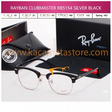 KACAMATA BACA RAYBAN CLUBMASTER RB5154 SILVER BLACK