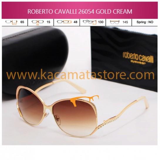JUAL KACAMATA ONLINE ROBERTO CAVALLI 26054 GOLD CREAM
