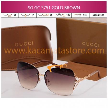 JUAL KACAMATA ONLINE SG GC S751 GOLD BROWN