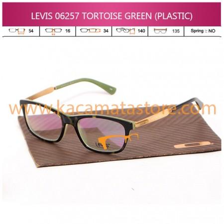 TOKO KACAMATA TERMURAH JUAL KACAMATA BACA LEVIS 06257 TORTOISE GREEN (PLASTIC)