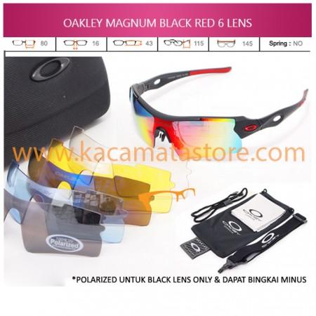 JUAL KACAMATA ONLINE OAKLEY MAGNUM BLACK RED 6 LENS