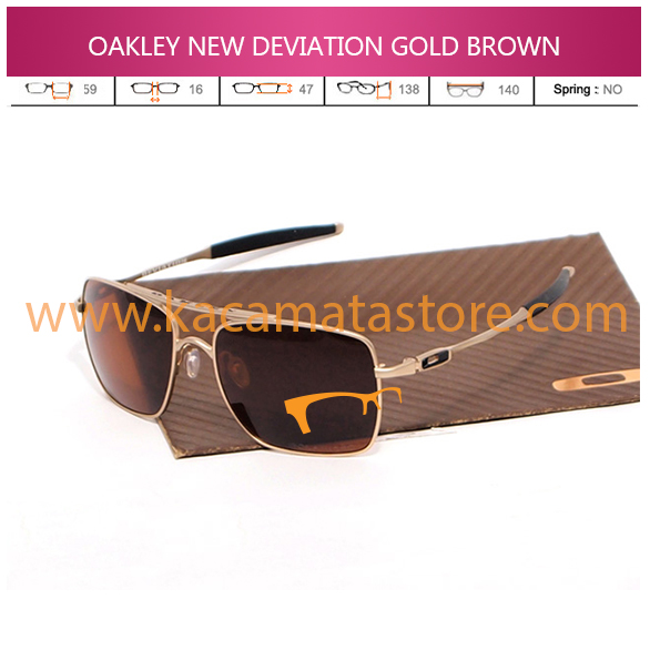 JUAL KACAMATA OAKLEY NEW DEVIATION GOLD BROWN