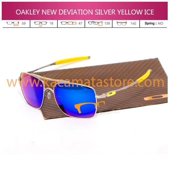 OAKLEY NEW DEVIATION SILVER YELLOW ICE