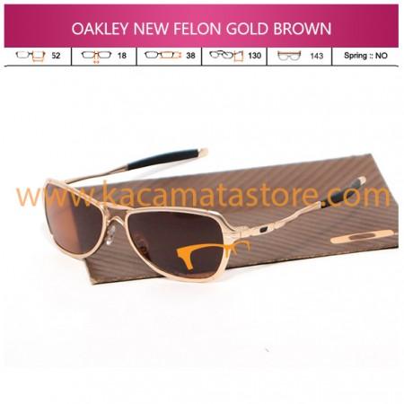 JUAL KACAMATA OAKLEY NEW FELON GOLD BROWN