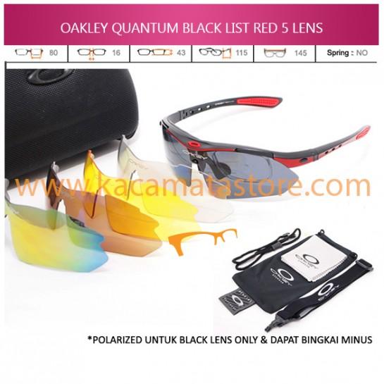 JUAL KACAMATA ONLINE OAKLEY QUANTUM BLACK LIST RED 5 LENS