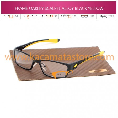 JUAL KACAMATA FRAME BACA OAKLEY SCALPEL ALLOY BLACK YELLOW