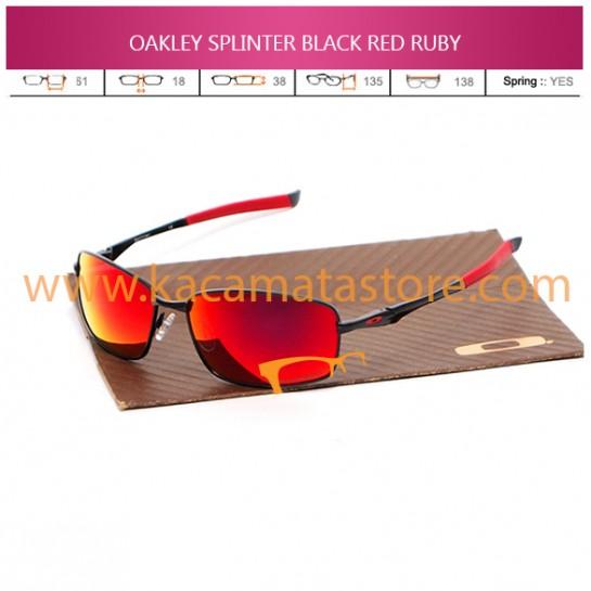 JUAL KACAMATA OAKLEY SPLINTER BLACK RED RUBY