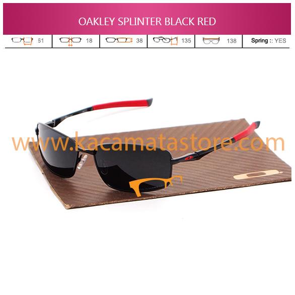 JUAL KACAMATA OAKLEY SPLINTER BLACK RED