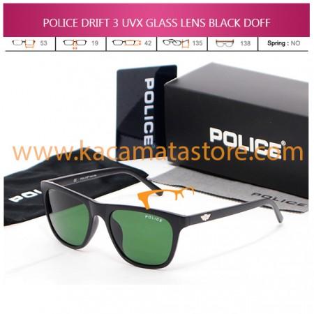 JUAL KACAMATA POLICE DRIFT 3 UVX GLASS LENS BLACK DOFF