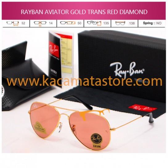 JUAL KACAMATA ONLINE RAYBAN AVIATOR GOLD TRANS RED DIAMOND
