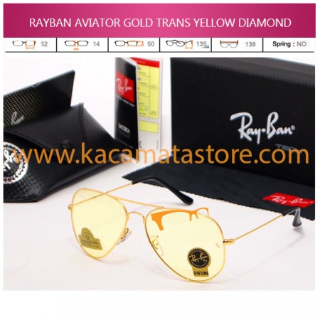 JUAL KACAMATA ONLINE RAYBAN AVIATOR GOLD TRANS YELLOW DIAMOND