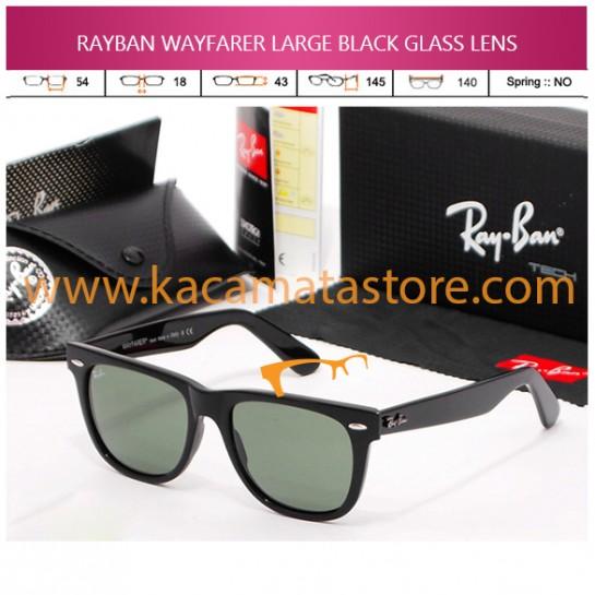 JUAL KACAMATA ONLINE RAYBAN WAYFARER LARGE BLACK GLASS LENS
