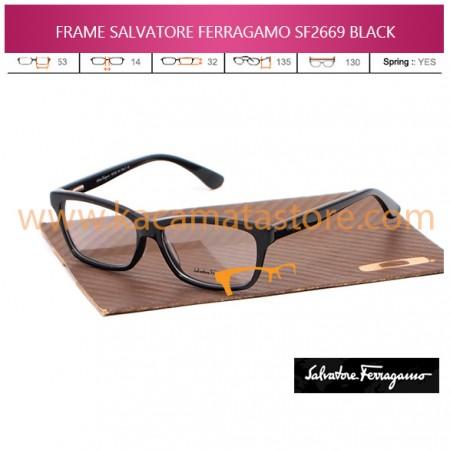JUAL KACAMATA ONLINE FRAME BACA SALVATORE FERRAGAMO SF2669 BLACK