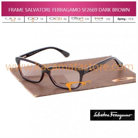 JUAL KACAMATA ONLINE FRAME BACA SALVATORE FERRAGAMO SF2669 DARK BROWN