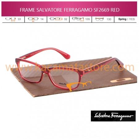 JUAL KACAMATA ONLINE FRAME BACA SALVATORE FERRAGAMO SF2669 RED