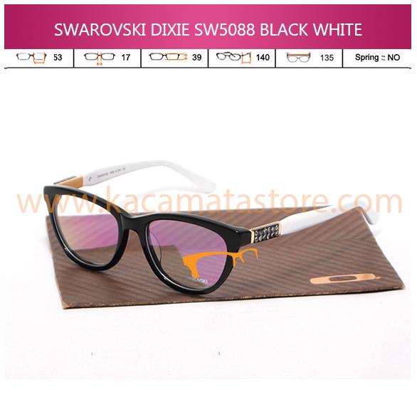 JUAL KACAMATA ONLINE SWAROVSKI DIXIE SW5088 BLACK WHITE