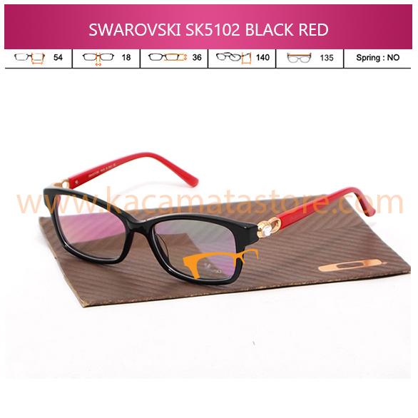 JUAL KACAMATA ONLINE SWAROVSKI SK5102 BLACK RED