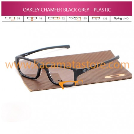 MODEL OAKLEY CHAMFER BLACK GREY - PLASTIC
