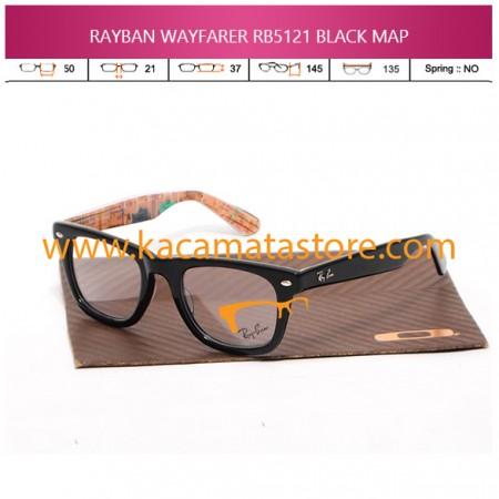 JUAL KACAMATA BACA RAYBAN WAYFARER RB5121 BLACK MAP
