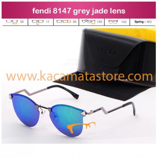 jual kacamata kw super fendi 8147 grey jade lens