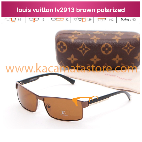 jual kacamata online terbaru louis vuitton lv2913 brown polarized