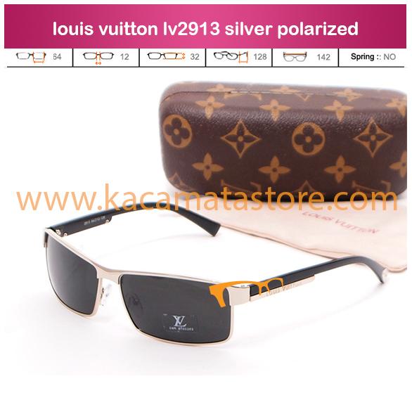 harga jual kacamata terbaru louis vuitton lv2913 silver polarized