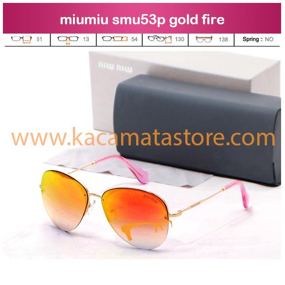 jual kacamata online miumiu smu53p gold fire