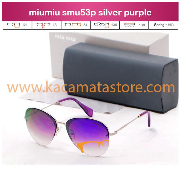 harga kacamata terbaru miumiu smu53p silver purple jual kacamata online