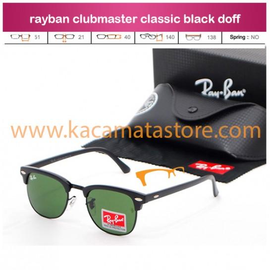 model kacamata klasik classic rayban clubmaster classic black doff