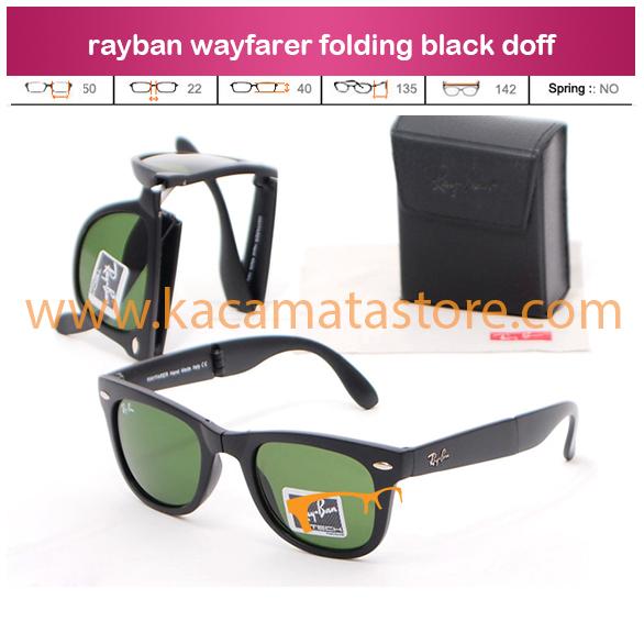 jual kacamata harga kacamata kw super rayban wayfarer folding black doff