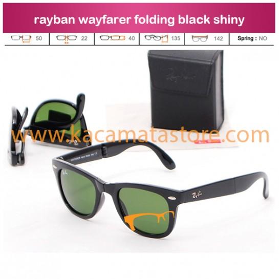 grosir kacamata online rayban wayfarer folding black shiny jual kacamata murah