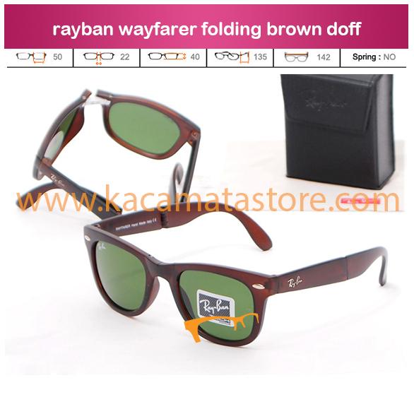 jual kacamata rayban wayfarer folding brown doff harga murah