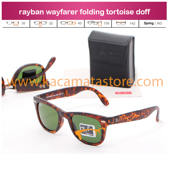 trend kacamata terbaru rayban wayfarer folding tortoise doff jual kacamata murah