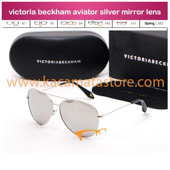jual kacamata online grosir dan eceran terbaru victoria beckham aviator silver mirror lens