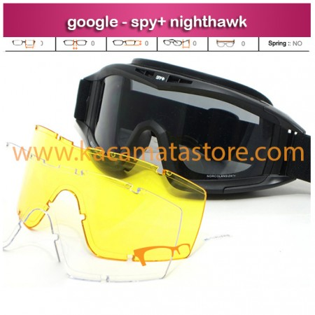 jual kacamata google kacamata airsoft gun - spy+ nighthawk