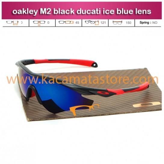 kacamata oakley sporty lensa biru M2 black ducati ice blue lens