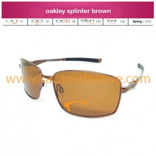 toko kacamata oakley splinter brown