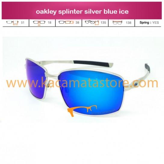 jual kacamata oakley terbaru splinter silver blue ice