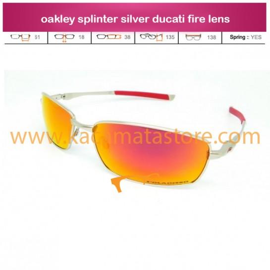 toko kacamata oakley splinter silver ducati fire lens