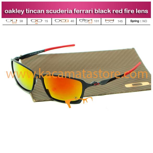 jual kacamata ferarri kacamata oakley tincan scuderia ferrari black red fire lens